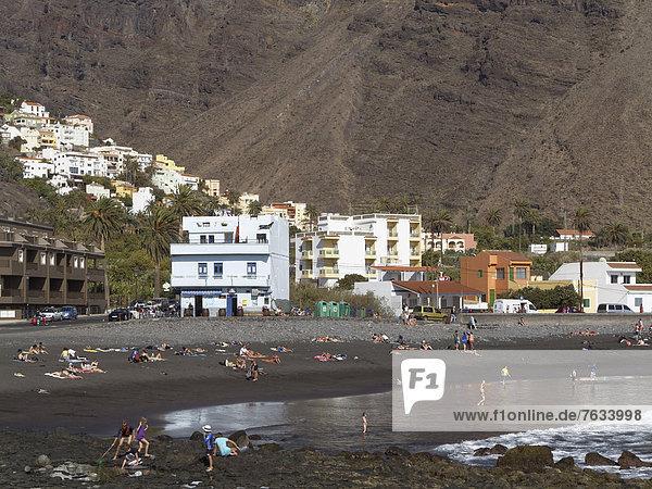 La Playa and La Calera  Valle Gran Rey  La Gomera  Canary Islands  Spain  Europe