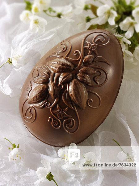 Dekoration Schokolade Osterei