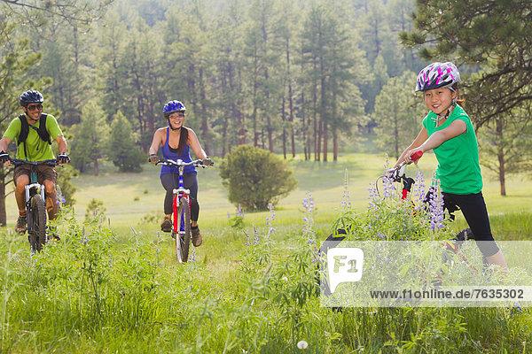Berg  fahren  Wiese  Fahrrad  Rad