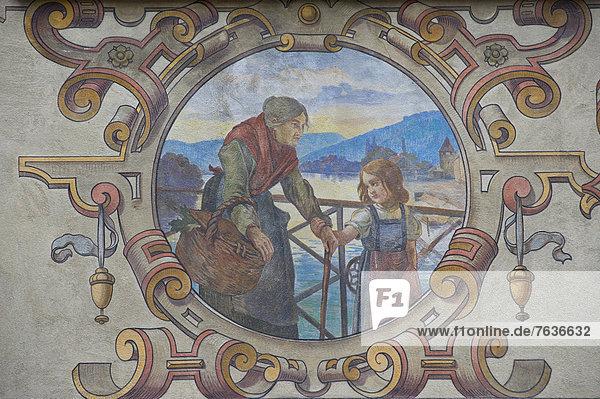 Mittelalter  Europa  Frau  Ehefrau  Dorf  Platz  Schaffhausen  Stein am Rhein  Schweiz