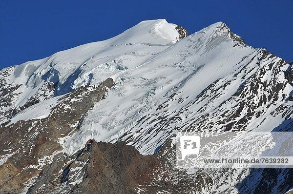 Berggipfel  Gipfel  Spitze  Spitzen  über  Gletscher  Alpen  Schönheit