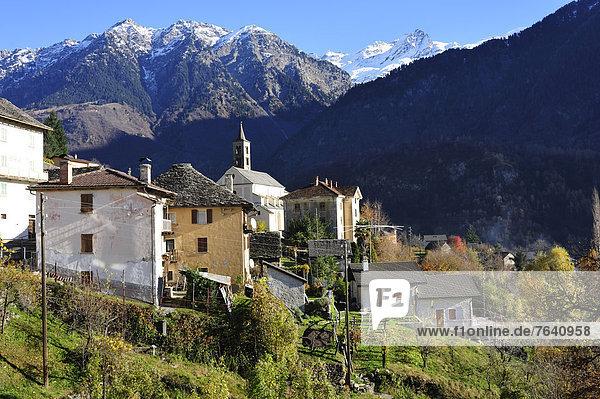 Berg Dorf Alpen Schweiz