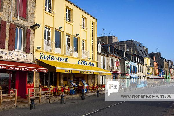 Frankreich Europa Wohnhaus Gebäude Bretagne Halbinsel