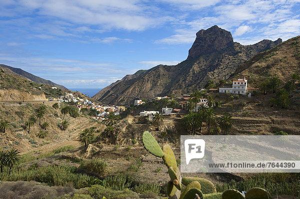 Außenaufnahme  Landschaftlich schön  landschaftlich reizvoll  Europa  Berg  Tag  niemand  Natur  Kanaren  Kanarische Inseln  La Gomera  Berglandschaft  Spanien