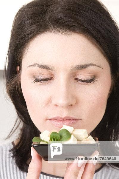 Tofu Frau sehen