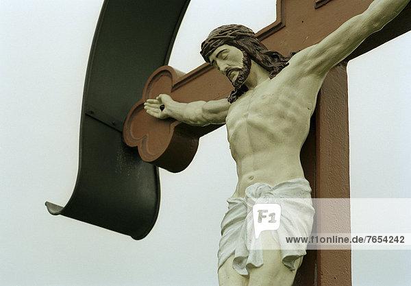 Christus am Kreuz - bei Starnberg - Bayern - Deutschland