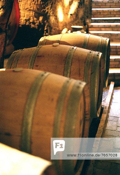 Weinfässer - Weinkeller - Matera - Basilikata - Italien