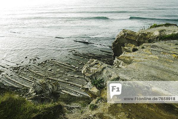 Felsenküste Ciboure  Frankreich