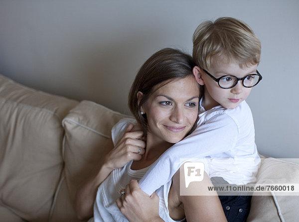 Mutter und kleiner Junge  Portrait