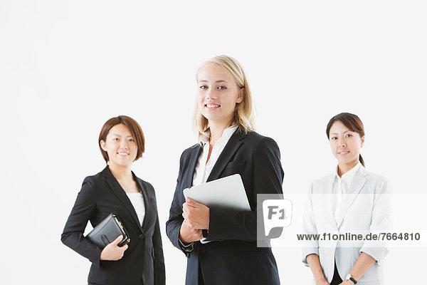 Geschäftsfrau  lächeln  Blick in die Kamera