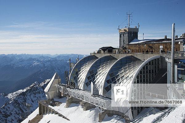 Munich House on the summit of Mount Zugspitze  Garmisch-Partenkirchen  Grainau  Upper Bavaria  Bavaria  Germany  Europe