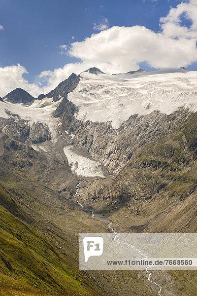 Scheibenkogel und Rotmooskogel  Rotmoosferner und Wasserfallferner  Talschluss vom Rotmoostal  Ötztaler Alpen  Tirol  Österreich  Europa