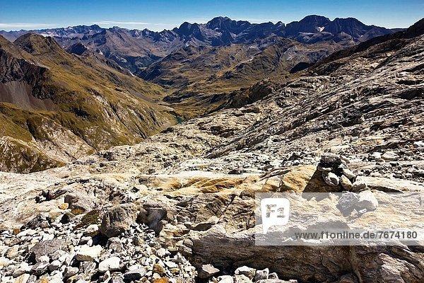 Frankreich  Europa  Tal  Hintergrund  Pyrenäen