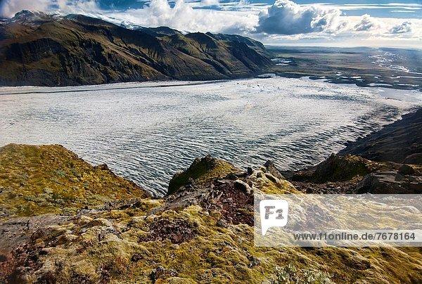 Skaftafellsjokull Glacier in Vatnajokull National Park  Skaftafell  Iceland