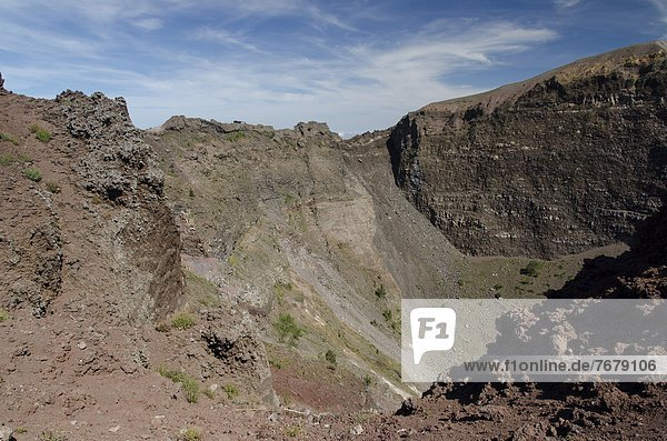Italy  Campania  Vesuvius National Park  the crater