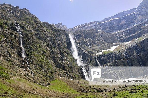 Frankreich  Europa  Steilküste  Ereignis  Wasserfall  Karst  Kalkstein