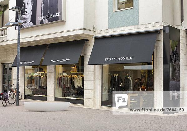 Trussardi Modegeschäft in Riccione  Italien  Europa