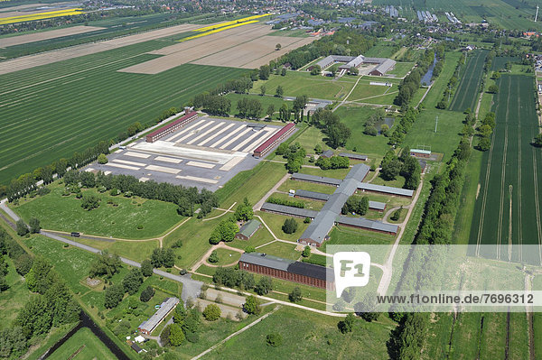 Luftbild  Gedenkstätte Konzentrationslager Neuengamme