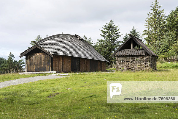 Wohnhaus Gebäude Bauernhof Hof Höfe lang langes langer lange Feuer Wikinger