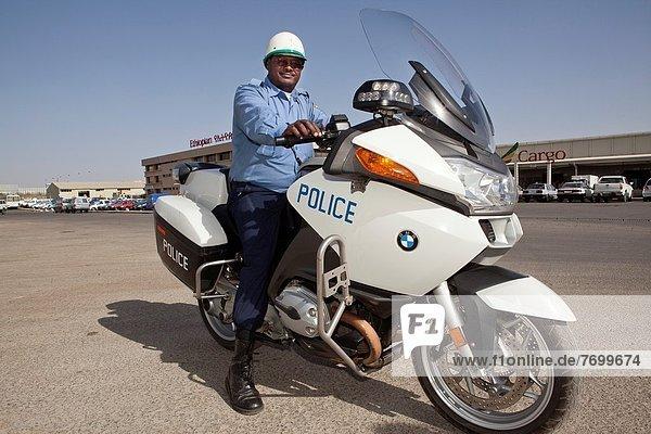 Motorrad  Äthiopien  Offizier  Polizei
