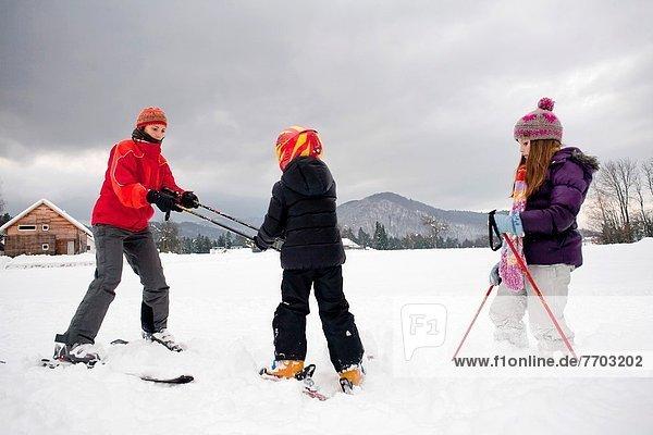 Ski  Unterricht  Schnee