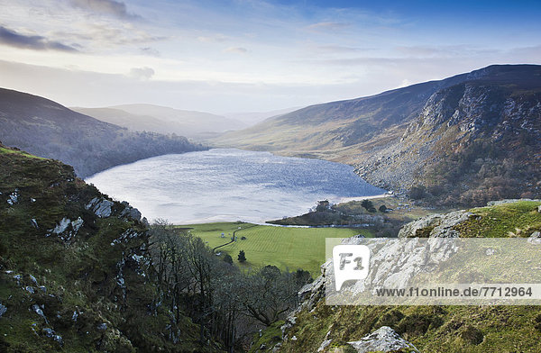 View Across Lough Tay  County Wicklow Ireland
