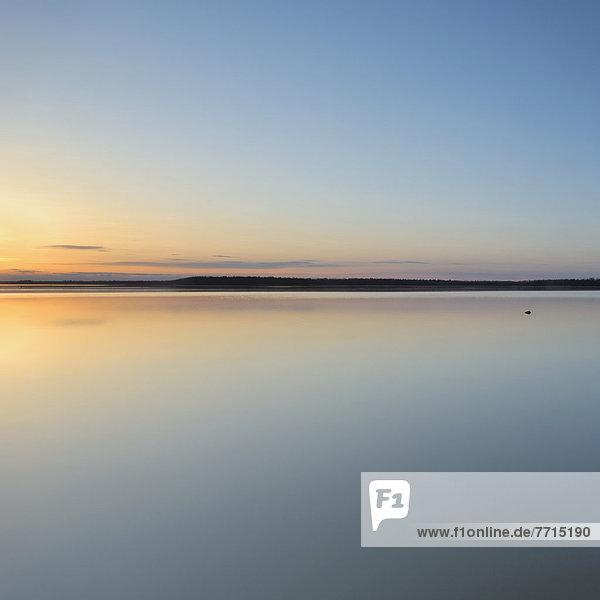 Sunset On Cooking Lake  Edmonton Alberta Canada