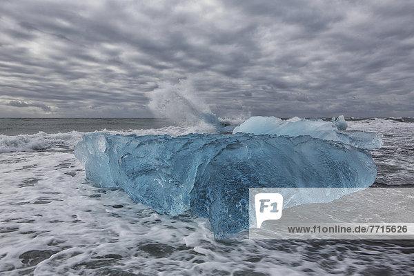 Mütze Ozean Eis Vatnajökull Unfall Atlantischer Ozean Atlantik Kalb Island