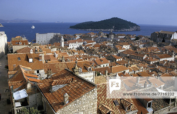 Rooftops Of The Old Town Dubrovnik