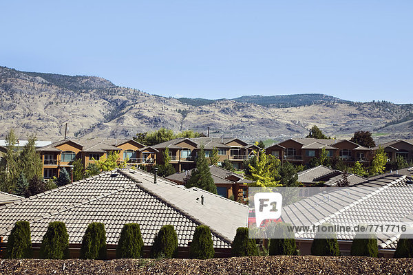 Rooftops of houses Penticton british columbia canada