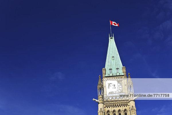 Ruhe  Gebäude  Parlamentsgebäude  Fahne  kanadisch