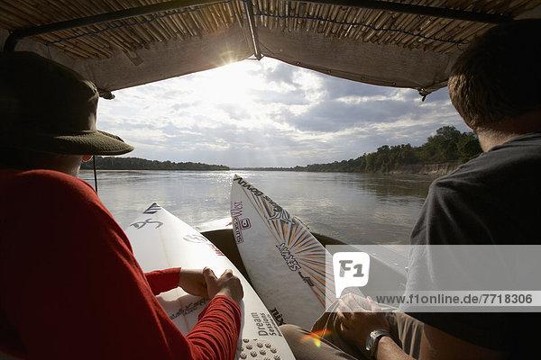 Ostafrika  Kitesurfer  Reise  Fluss  Tansania