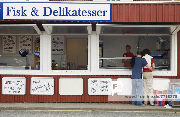Blumenmarkt  Außenaufnahme  Lebensmittel  Dorf  angeln  Bohuslän  Schweden