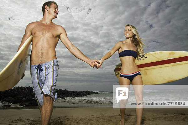 Schönheit  Strand  Hawaii  Kauai