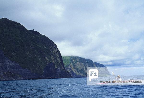 Hawaii Big Island Kajakfahrer Ansicht Hawaii North Shore