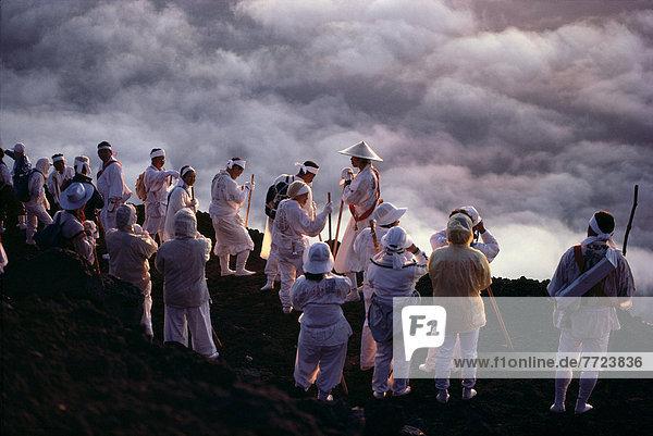 wandern  Ethnisches Erscheinungsbild  Fuji  Kleid  Japan  Wallfahrt