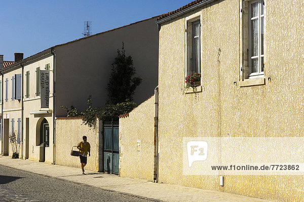Street Scene In The Fortified Town Of Brouage  The Fortified Town Of Brouage  Poitou-Charentes Region Of France