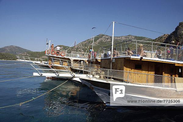 Pleasure Cruise Boats In Oludeniz  The Turquoise Coast  Southern Turkey