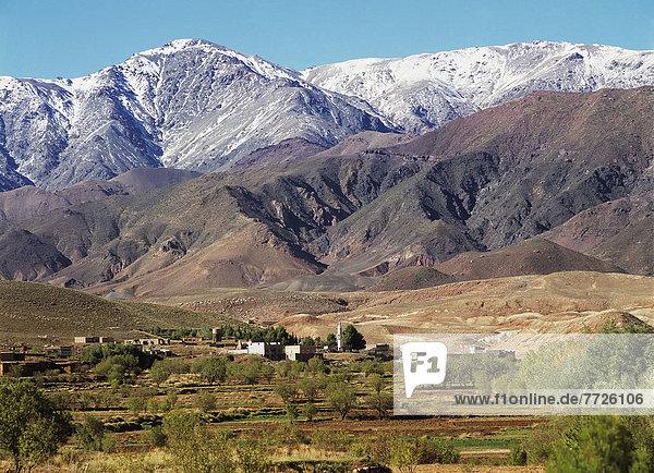 High Atlas Mountains  Landscape  Morocco.. © Chris Caldicott / Axiom