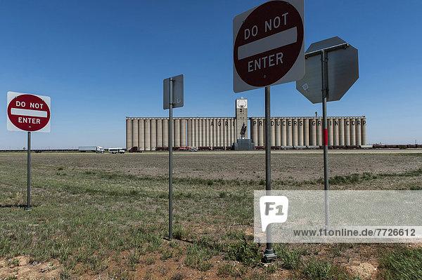 Vereinigte Staaten von Amerika  USA  Getreide  Gebäude  groß  großes  großer  große  großen  Aufzugsanlage  Texas