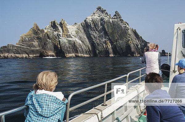 nahe  Großbritannien  klein  Tourist  Boot  Kerry County  Irland