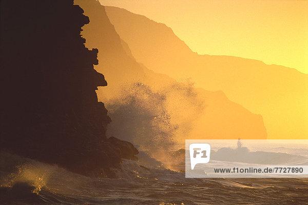 Sonnenuntergang Küste Hawaii Kauai