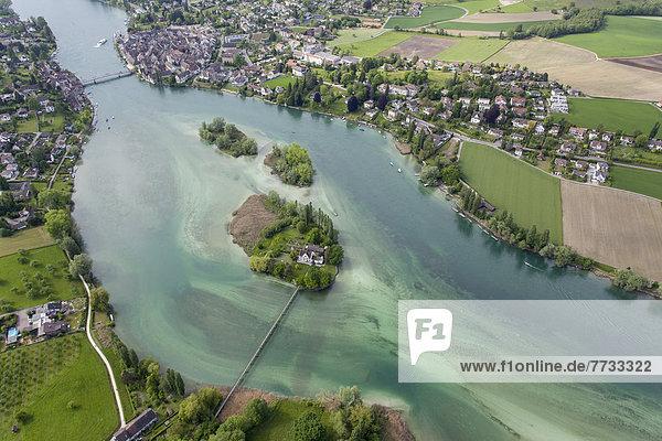 Insel Werd und Stein am Rhein  Schweiz  Europa Insel Werd und Stein am Rhein, Schweiz, Europa