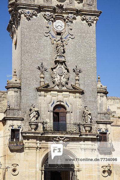 Himmel  Uhr  blau  Andalusien  Arcos de la Frontera  Spanien