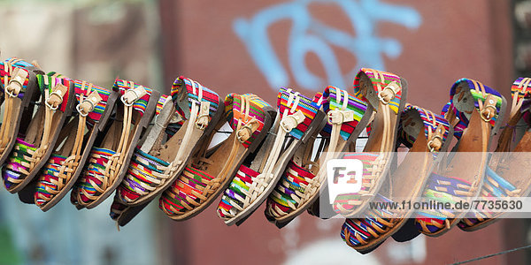 Colourful Shoes Hanging On Display  Guatemala City Guatemala