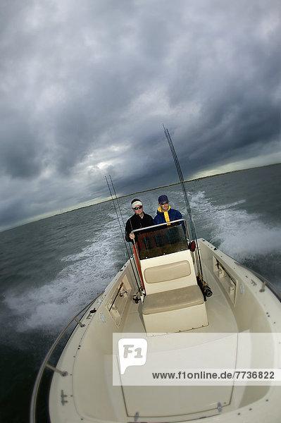 Mann  Amerika  fahren  Boot  Verbindung  Abenddämmerung  North Carolina