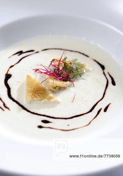 Rahmsuppe von Räucherfischen