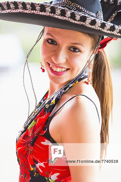 USA  Texas  Young woman smiling  portrait