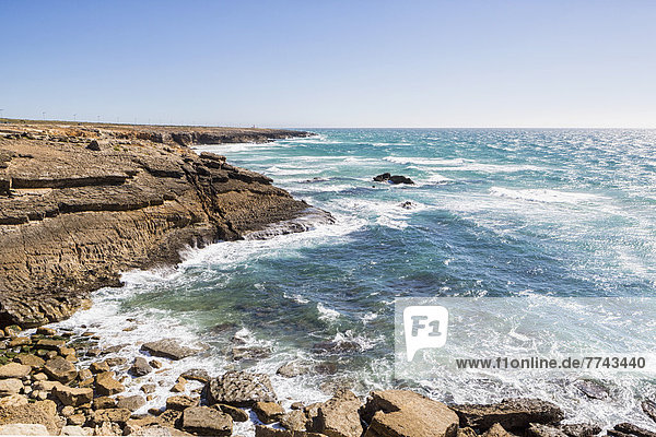 Portugal  Blick auf den Atlantik