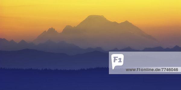 USA  Washington  Blick auf Mount Baker